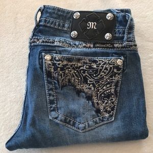 Miss Me Straight Jeans size 29 inseam is 31